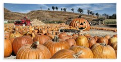 Pumpkin Patch 3 Beach Sheet