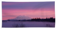 Beach Sheet featuring the photograph Purple Mountain Majesty by Chalet Roome-Rigdon