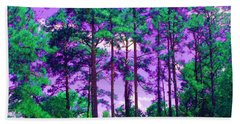 Beach Towel featuring the photograph Purple Sky by George Pedro