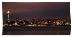 Purple Sky Morning Beach Towel