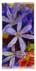 Beach Towel featuring the photograph Purple Stars by Debbie Portwood