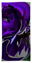 Purple Swirl Beach Sheet by Karen Harrison