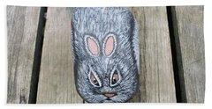 Rabbit Rock Painting Beach Towel