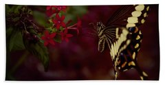 Radiant Swallowtail Beach Towel