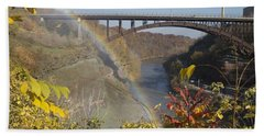 Beach Towel featuring the photograph Rainbow At Lower Falls by William Norton