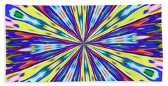 Rainbow In Space Beach Towel by Alec Drake