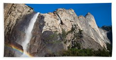 Rainbow On Bridalveil Fall Beach Towel
