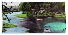 Rainbow Springs In Florida Beach Towel by Luis F Rodriguez