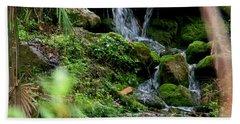 Rainbow Springs Waterfall Beach Towel by Judy Wanamaker