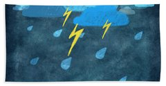 Rainy Day With Storm And Thunder Beach Towel