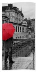 Rainy Days In Ljubljana Beach Sheet