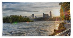 Beach Towel featuring the photograph Rapids Sunset by Michael Frank Jr