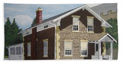 Beach Towel featuring the painting Rasey House by Norm Starks