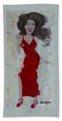 Red Champagne Beach Towel