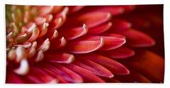 Red Petals Abstract 1 Beach Sheet
