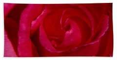 Red Rose Beach Towel by Mark Gilman