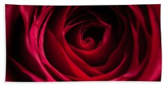 Beach Towel featuring the photograph Red Rose by Matt Malloy