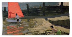 Red Sail Isle Of Wight Beach Towel