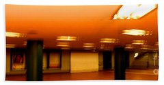 Beach Towel featuring the photograph Red Subway by Andy Prendy