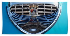 Beach Towel featuring the photograph Reflecting Ford by John Schneider