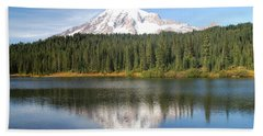 Reflection Lake - Mt. Rainier Beach Towel