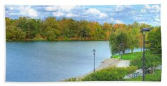 Beach Sheet featuring the photograph Relaxing At Hoyt Lake by Michael Frank Jr