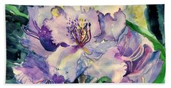 Rhododendron Beach Towel by Mindy Newman