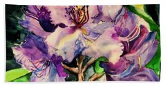 Rhododendron Violet Beach Towel