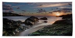 Beach Towel featuring the photograph Rhosneigr Sunset  by Beverly Cash