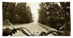 Riders Eye Veiw In Sepia Beach Towel