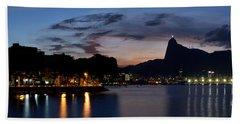 Rio Skyline From Urca Beach Towel