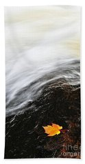 River In Fall Beach Towel