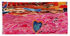 River Of Passion Beach Towel