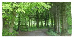 Road Into The Woods Beach Towel