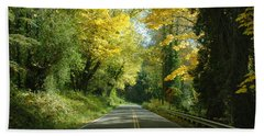 Road Through Autumn Beach Towel
