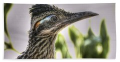 Roadrunner Portrait  Beach Sheet by Saija  Lehtonen