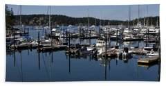 Roche Harbor Reflected Beach Towel