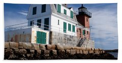 Rockland Breakwater Lighthouse Beach Towel