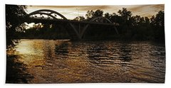 Rogue River Sunset Beach Towel by Mick Anderson