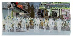 Beach Towel featuring the photograph Rolling Down Bullard Street by Vicki Pelham