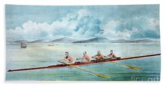 Rowing Team, C1875 Beach Towel