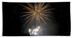 Beach Towel featuring the photograph Rvr Fireworks 1 by Mark Dodd