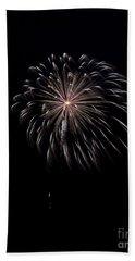 Beach Towel featuring the photograph Rvr Fireworks 10 by Mark Dodd