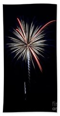 Beach Towel featuring the photograph Rvr Fireworks 11 by Mark Dodd