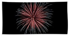 Beach Towel featuring the photograph Rvr Fireworks 12 by Mark Dodd