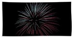 Beach Towel featuring the photograph Rvr Fireworks 15 by Mark Dodd