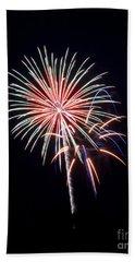 Beach Towel featuring the photograph Rvr Fireworks 16 by Mark Dodd
