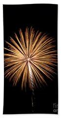 Beach Towel featuring the photograph Rvr Fireworks 27 by Mark Dodd