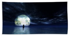 Sailing At Night... Beach Towel by Tim Fillingim