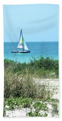 Beach Sheet featuring the photograph Sailing by Carol  Bradley